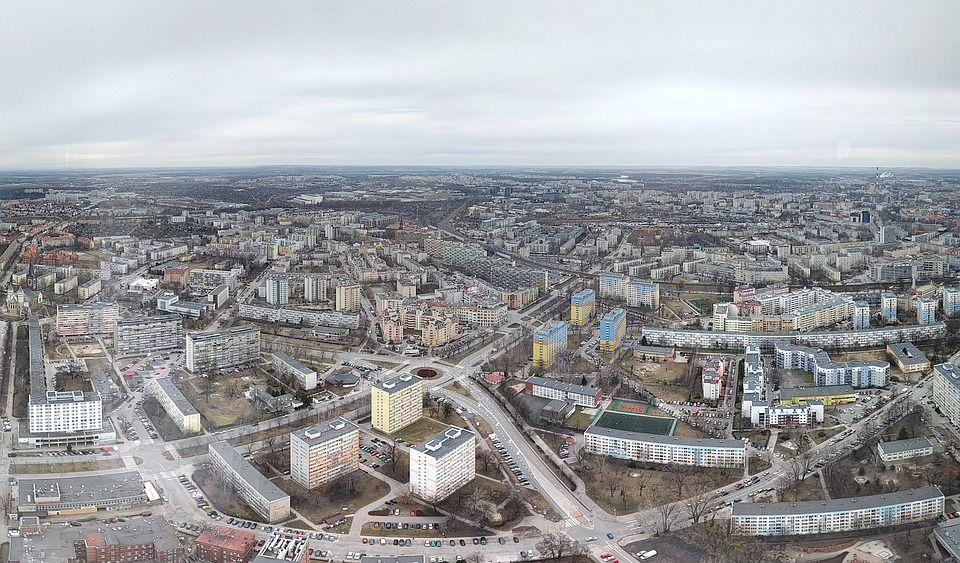 Wrocław - miasto z lotu ptaka